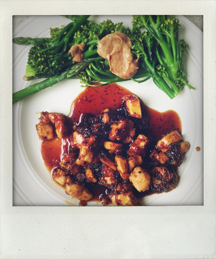 Tamari Honey Chicken With Broccoli & Almond Butter Sauce Recipes ...