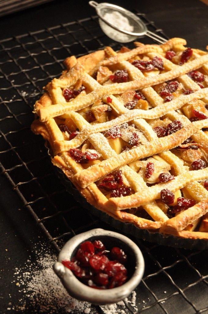 Apple cranberry and almond tart | Tarts | Pinterest