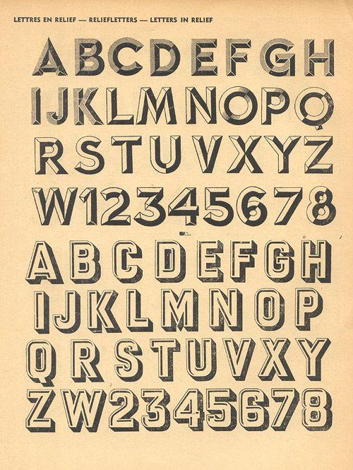 Vintage Typography Alphabet