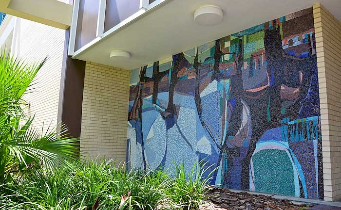 Forum II by Joe Testa-Secca. Located on the #USF John and Grace Allen building.