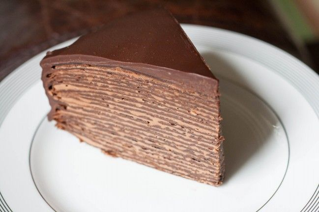 Chocolate Hazelnut Crepe Cake, Chocolate, #chocolatecrêpes, #Crêpes ...