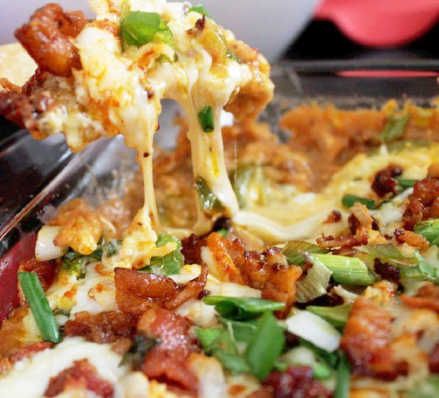 Hot 7 Layer Bean Dip ~ Meggan Backwood   Yummy food ideas I want to t ...