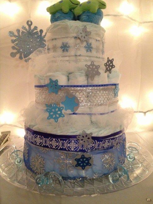 winter wonderland baby shower cake i made for my sister baby boy
