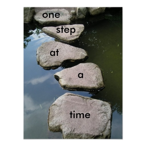 One step at a time motivational poster for Tattoo one step at a time