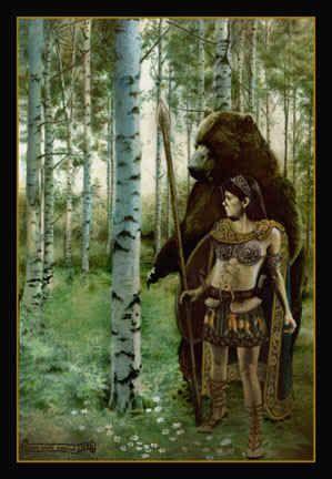 Dea Artio, Bear-goddess of the Gauls.