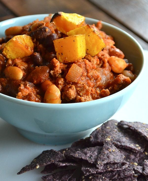 Black Bean & White Chili with Butternut Squash. I've heard this is th...
