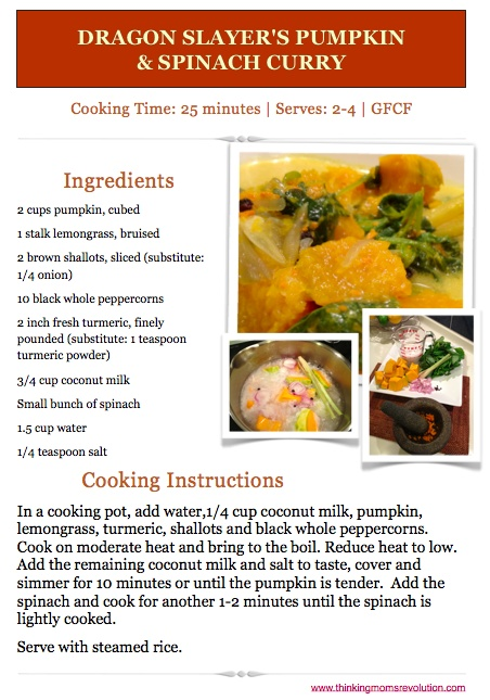 ... Slayer's Pumpkin & Spinach Curry | The Thinking Moms' Revolution