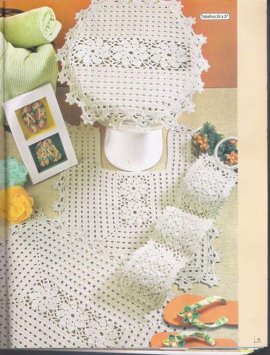Juegos De Baño De Crochet:Kits para el baño