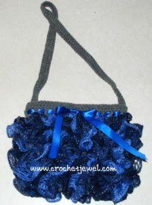 Red Heart Sashay Crochet Ruffle Scarf - Dearest Debi Patterns