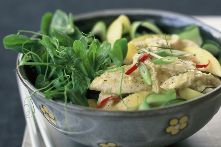 CHICKEN AND MANGO SALAD Mangoes taste great on their own, but add them ...