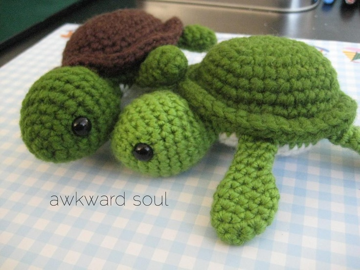 Turtle Amigurumi Crochet Pattern | Sewing and knitting! | Pinterest