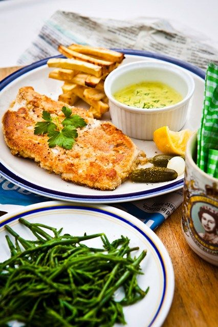 Fish And Chips With Tartare Sauce Recipe — Dishmaps