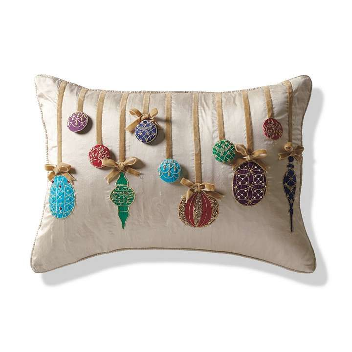 Decorative Christmas Pillows Throws : Ornament Decorative Pillow Christmas Pinterest