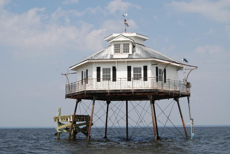Mobile Bay Lighthouse in Middle Bay.