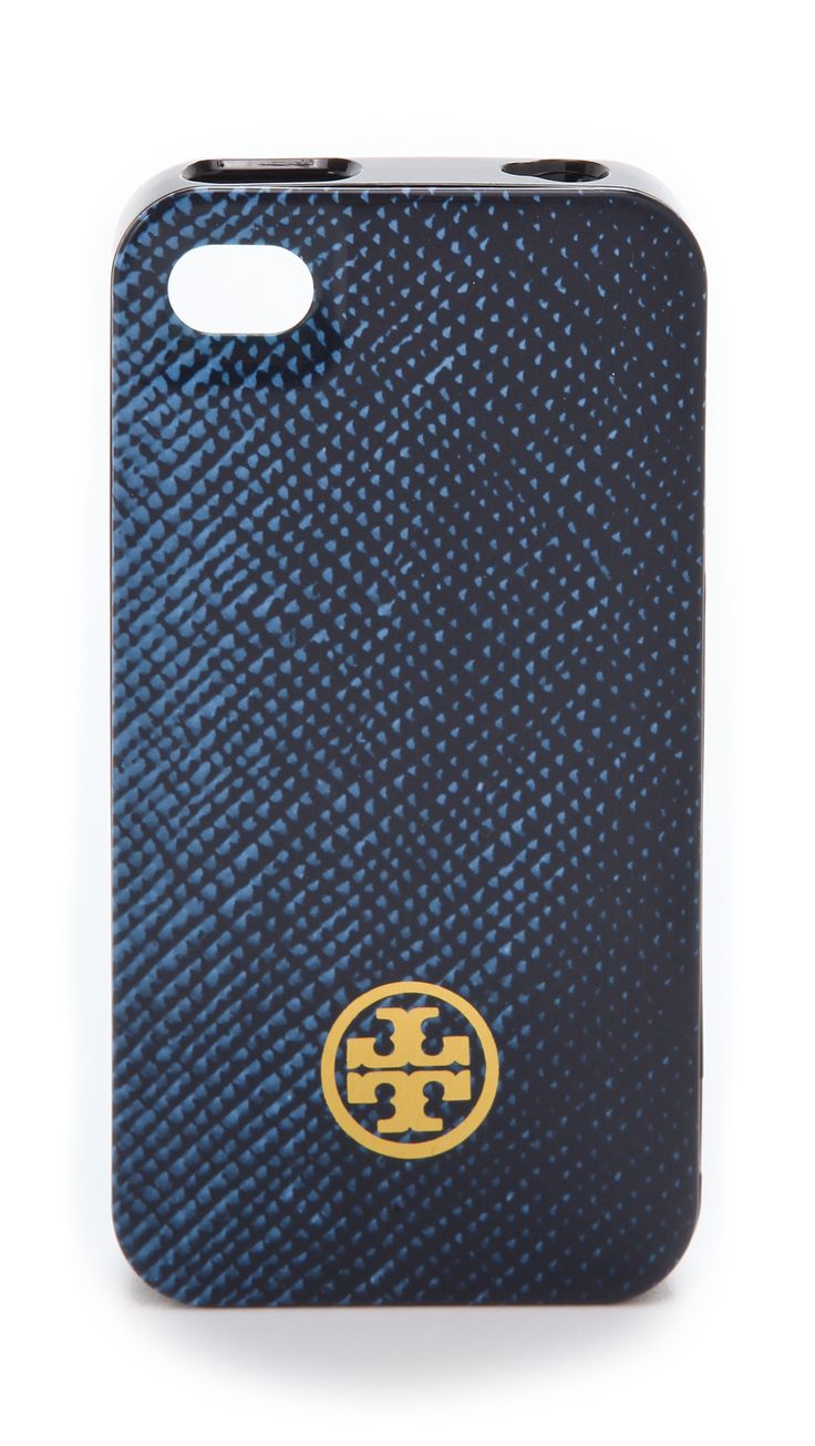 Tory burch blue printed hard shell iphone 4 case for Grove iphone 4 case