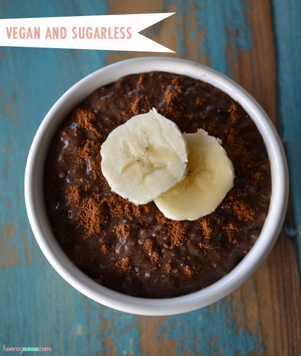 Healthy Chocolate Chia Seed Pudding. Might have to give this a try. I ...