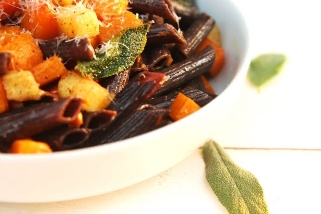 ... Penne in Sage Brown Butter with Roasted Butternut Squash and Apples