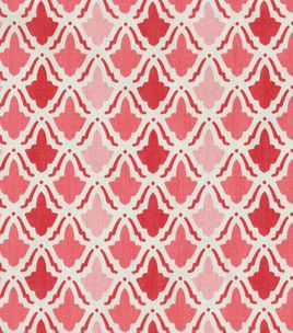 Maybe too pinkish red, but I like this pattern for curtains too...