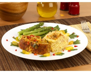World Gardens Cafe's Rustic Meatloaf