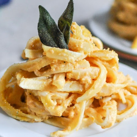 Baked Pumpkin Fettuccine Alfredo | For eating and for looking | Pinte ...