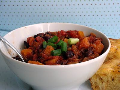 Black Bean Chili with Roasted Butternut Squash
