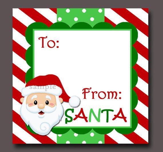 Secret Santa Gift Tags Template Gift Tags From Santa 600 x 508