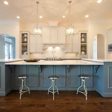 Kitchen with different color cabinets kitchen pinterest for Different color kitchen cabinets