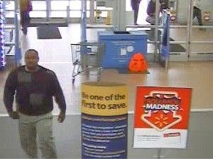 shoes at a Walmart in North Carolina. The suspect, seen in the store ...