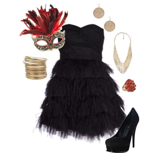 Another cute sweet 16 outfit for Masquerade Ball