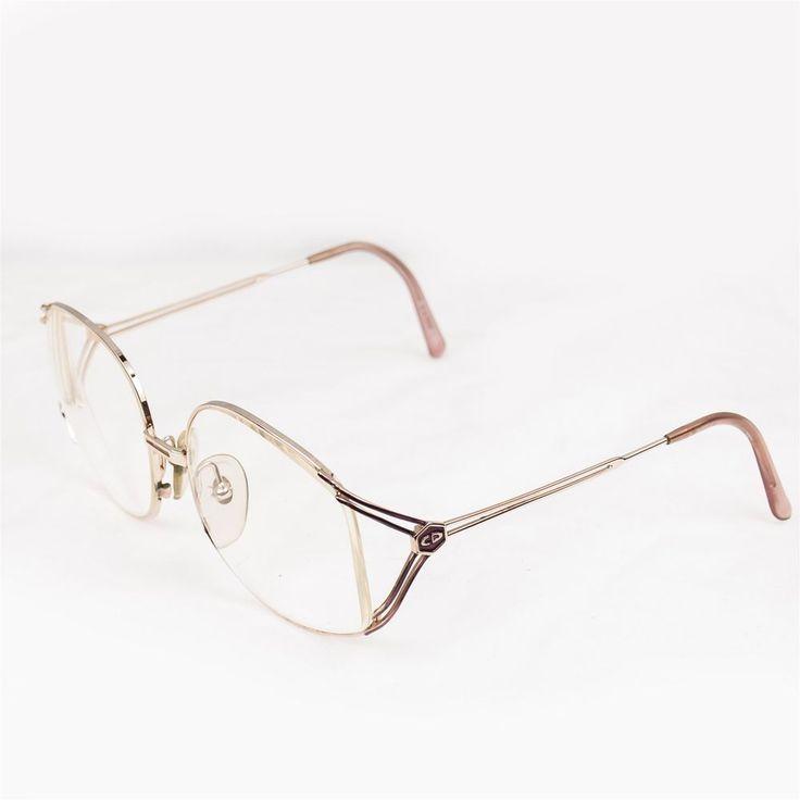 Eyeglasses Frames Christian Dior : Vtg Christian Dior Eyeglasses Frames Oversized Gold Tone ...