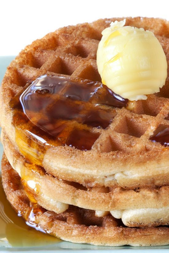 Pumpkin Waffles with Apple Cider Syrup | Party Food | Pinterest