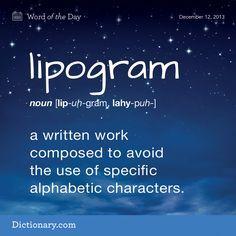 how to write a lipogram
