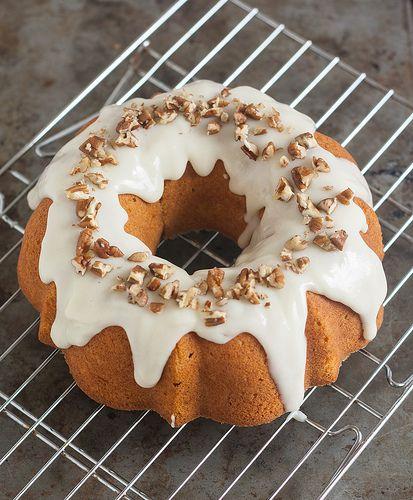Pumpkin-Ginger Pound Cake Bundt with Maple Cream Cheese Glaze. Made ...