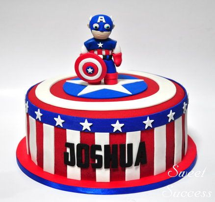 Captain America Cake  Cake by SweetSuccess