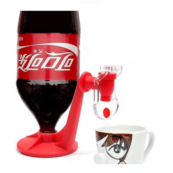 It's convenient to take a cup of Coca Cola from a big bottle with this Dispense Machine.