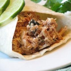 Slow Cooker Cilantro Lime Chicken for Tacos!
