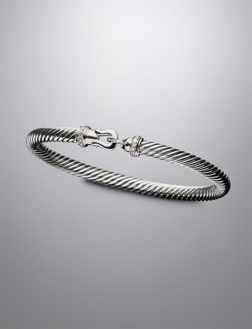David Yurman | Women | Bracelets: 5mm Pave Diamond Cable Buckle Bracelet