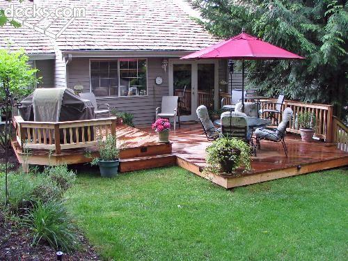 Nice Backyard Decks : Nice small deck  Backyard  Outdoor Living Design  Pinterest