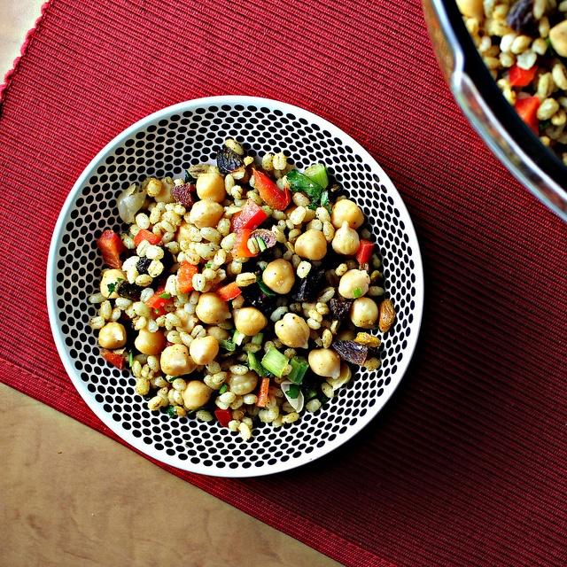 Moroccan Chickpea Barley Salad | yummy stuff | Pinterest