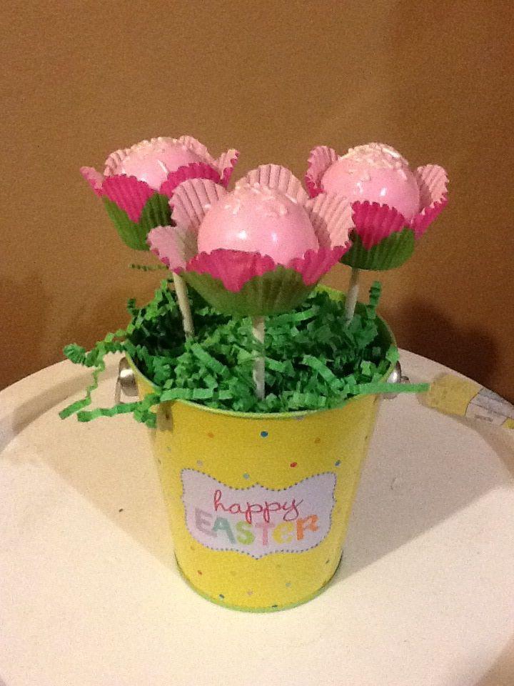 Flower Cake Balls : Spring flower cake pops cakepops Pinterest