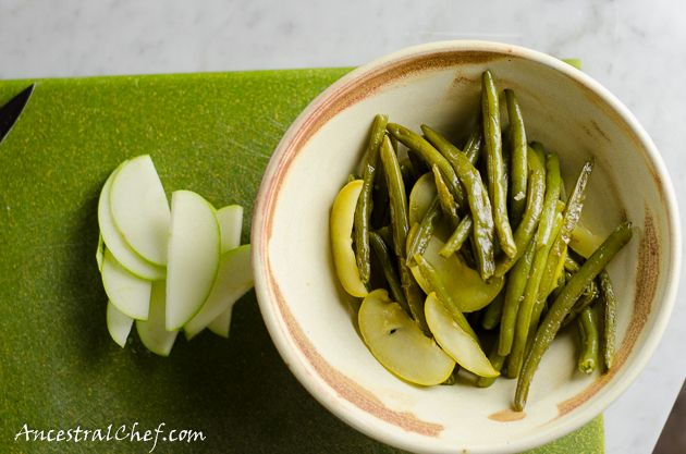 Paleo Green Beans and Apples - Curry Stir Fry - Ancestral Chef
