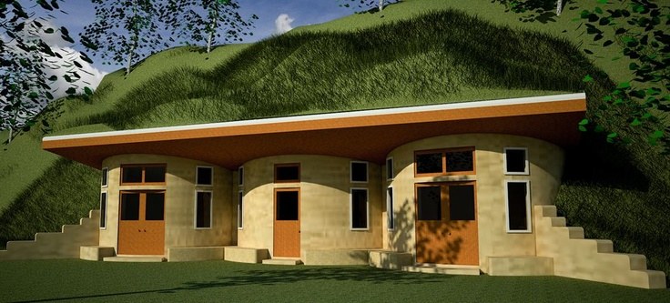 Pin by bonnie irving on earth underground dome homes for Earth sheltered home designs