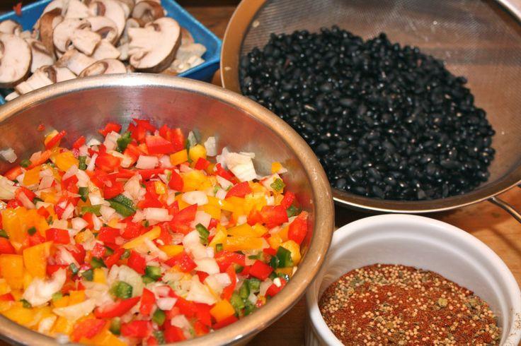 vegetarian black bean chili | Food | Pinterest