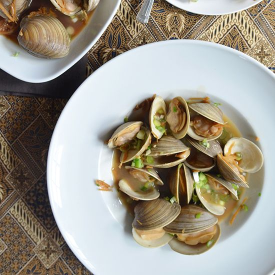 Manila Clams with Soy Butter on Food & Wine