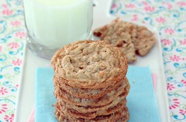 Butterscotch Blondie Oatmeal Cookies Recipes. #Recipes