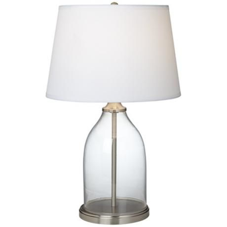 closhe fillable glass table lamp to be filled with shells. Black Bedroom Furniture Sets. Home Design Ideas