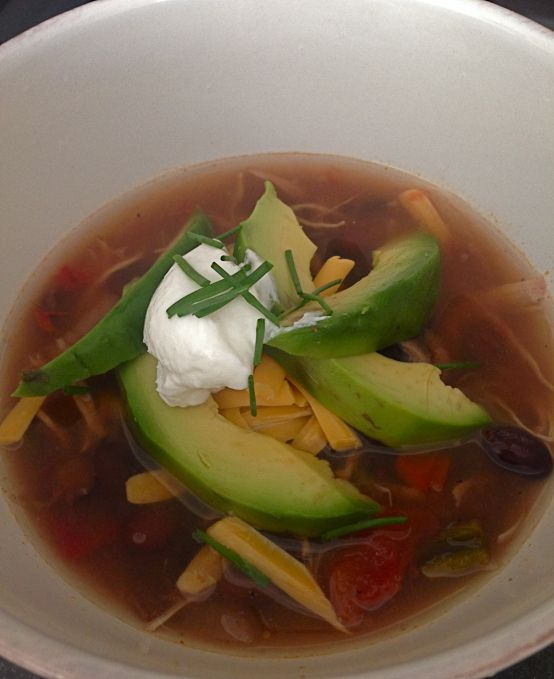 Crock Pot Picante Chicken And Black Bean Soup Recipe ...