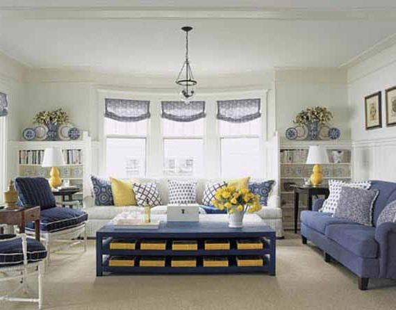 Yellow gray blue living room for the home pinterest