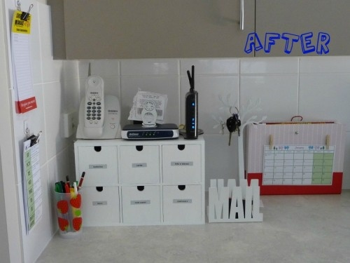 organize the kitchen counter corner