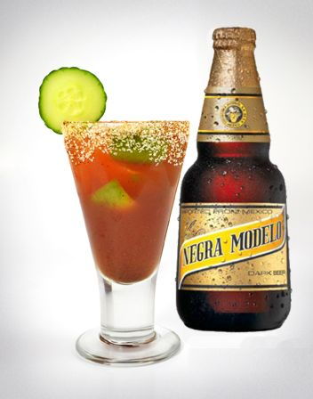 Negra Modelo Michelada (Spicy Beer on the Rocks) #ThanksgivingCocktail ...